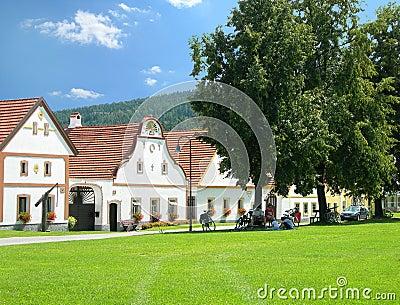 Scenic village Holasovice, South Bohemia, Czech Republic