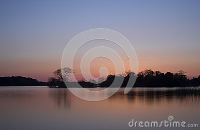 Scenics de lac sunset - lac à Killarney, Irlande