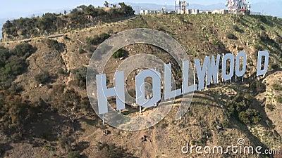 Sceniczny wzgórza Hollywood znak zdjęcie wideo
