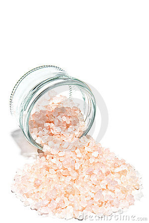 Scented Bath Salts and Glass jar