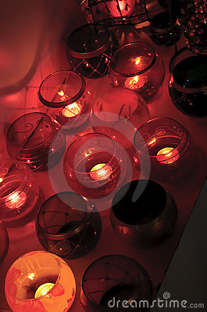 Scented candles.
