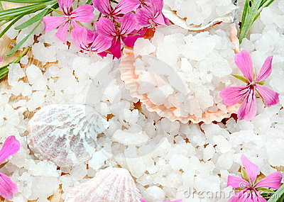 Scented Sea Salt with Flowers