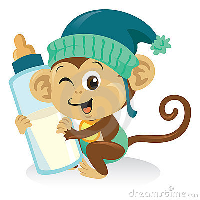 Schätzchen-Fallhammer mit Milchflasche