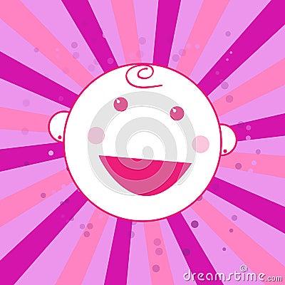 Schätzchengeburts-Ansagenkarte ist es ein Mädchen