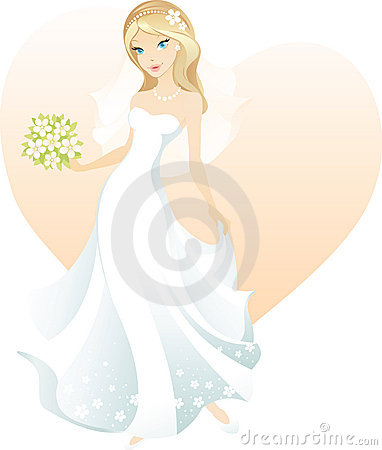 Schöne blonde Braut