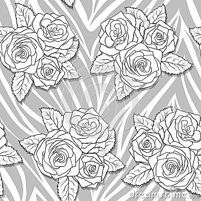 sch ne blumenstr u e von rosen auf tierischem abstraktem. Black Bedroom Furniture Sets. Home Design Ideas