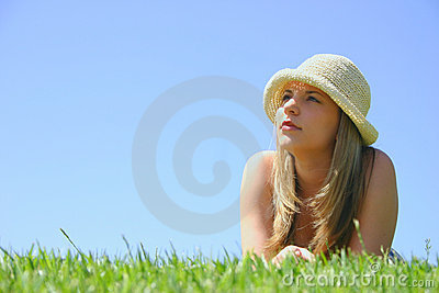 Schöne Hut-Frau