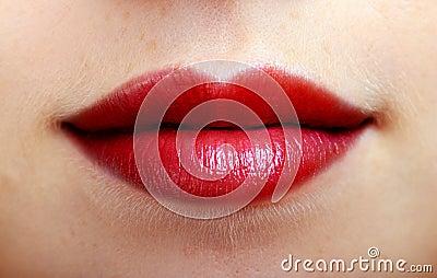 sch ne rote lippen einer frau lizenzfreies stockbild bild 28264026. Black Bedroom Furniture Sets. Home Design Ideas
