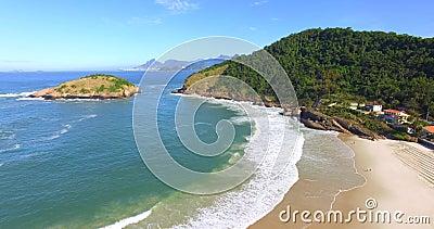 Schöne Strände mit feinem, weißem Sand stock footage