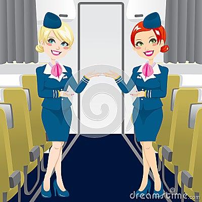 Schöner Stewardess