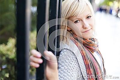 Schönes blondes Portrait