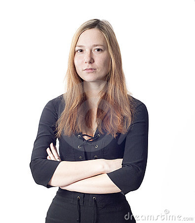 Schönes zartes Geschäftsfrauportrait