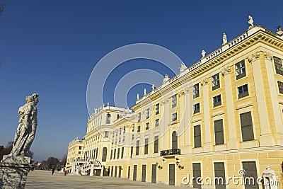 Schönbrunn Palace in Vienna Editorial Stock Photo