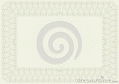 Schablone für Zertifikat