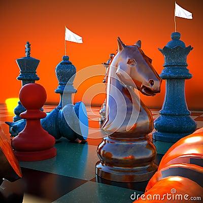 Schachkampf