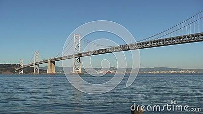 Schacht-Brücke San-Francisco-Oakland nachts stock video
