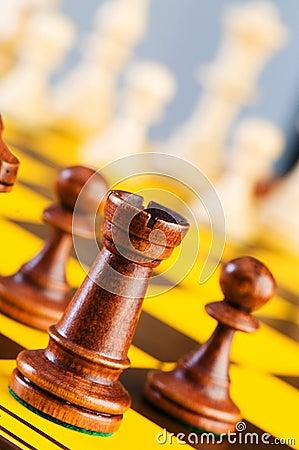 Schackbegrepp med stycken
