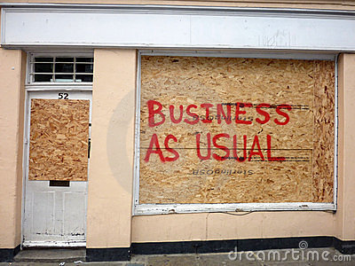 Schade aan de Winkels in Greenwich Redactionele Fotografie