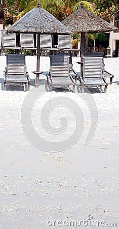 Schaduw op Strand