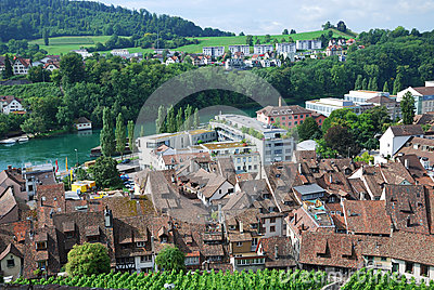 Schaffhausen on the Upper Rhine.