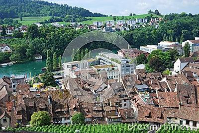 Schaffhausen on the Upper Rhine.