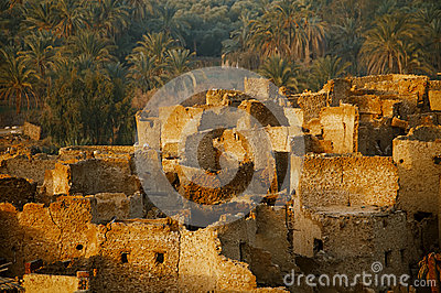 Schali ( Shali ) the old Town of Siwa on sunrise.