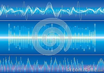 Schallwellehintergrund