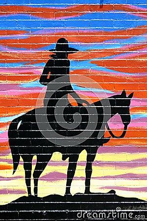 Schattenbild des Cowboys
