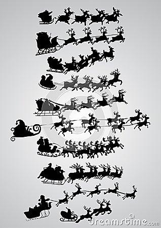 Schattenbild von Weihnachtsmann