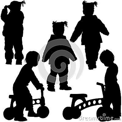Schattenbilder 06 der kinder stockbilder bild 4827784 - Schattenbilder kinder ...
