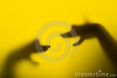 Schattenhandmarionetten (Köpfe des Hundes)