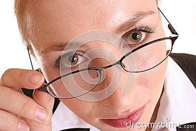 Schauen über Gläsern