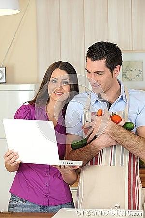 Schauendes-oben Rezept der Paare