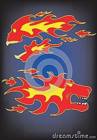 Schädel und Löwe