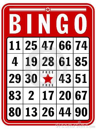 Scheda del segno di Bingo