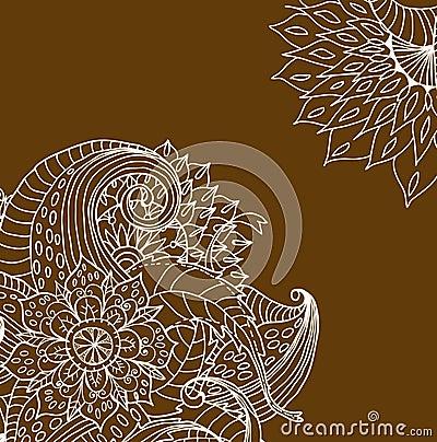 Scheda floreale disegnata a mano