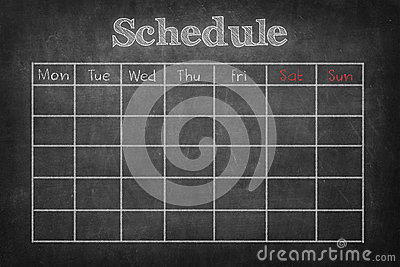 Schedule on Stock Photo