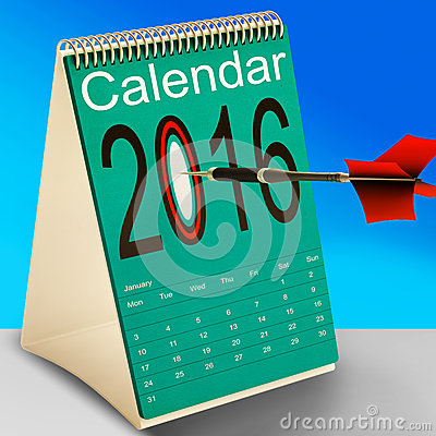 2016 Schedule Calendar Means Future Business Targets