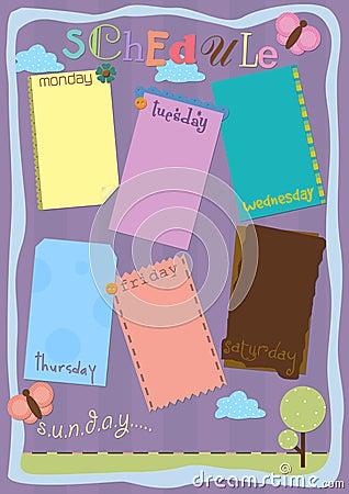 Schedule scrapbook