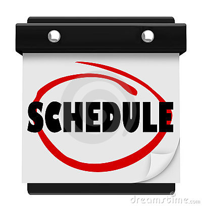 Schedule Word Wall Calendar Remember Appointments Stock Image - Image ...