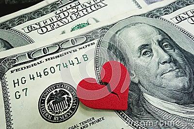 Scheidingscontant geld