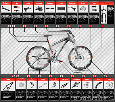 Scheme of mountain bike