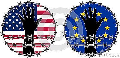 Schending van rechten van de mens in de V.S. en de EU