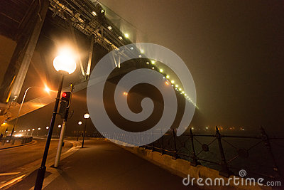 Schermi della nebbia   Sydney Harbour B Fotografia Editoriale