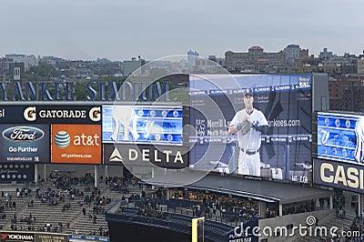 Schermi dello stadio delle yankee Fotografia Editoriale