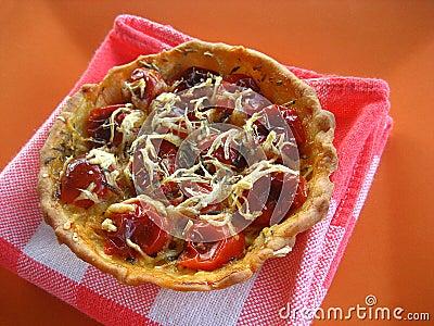 Scherpe de tomaten van de kers