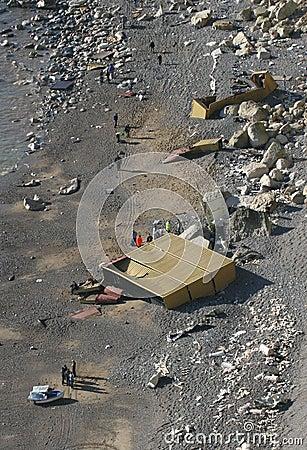 Schiffbruch-Übersicht Redaktionelles Stockbild