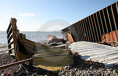 Schiffswrack-Rückstand Redaktionelles Stockfoto