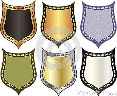 Schild mit Kronen