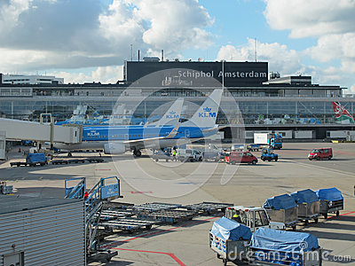 Schiphol Airport, Amsterdam, Netherlands. Editorial Stock Image